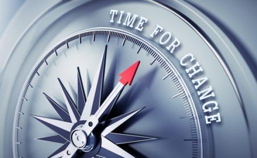Silbegrauer Kompass - Time for Change